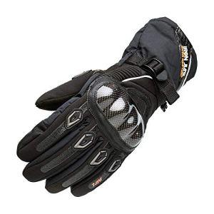 Gants de Moto 100% imperméable à l'eau, Hiver Chaud Gants de Moto en Fibre de Carbone Knuckle avec Fonction écran Tactile pour Hommes Femmes