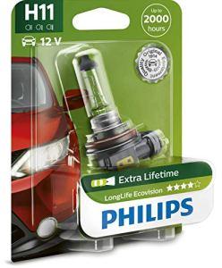 Longlife EcoVision H11Philips halogen12V 55W 4x Durée de vie brouillard Sche inwerf B1