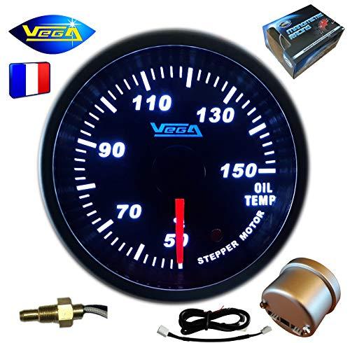 VEGA Manomètre Moteur Pas-à-Pas Température d'huile 50-150 °C 52 mm Marque Française