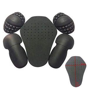 YGQersh 5pcs / Set Moto Costume Doublure Pad Respirant eva épaule coude Protection Dorsale – Noir