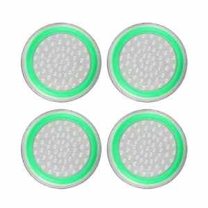 4pcs Silicone Anti-dérapant rayé Gamepad keycap contrôleur poignées Pouce Housse de Protection pour ps3 / 4 pour x Box One / 360 – Blanc et Vert
