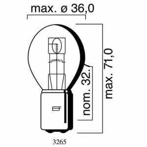 Ampoule MotoLibre 6V 35/35W BA20d, Bilux