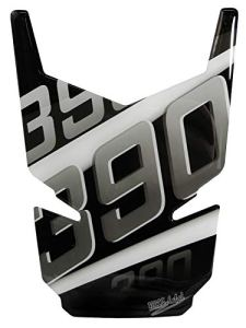 BIKE-label 502543 Tankpad 3D Silver Stripes Protection de réservoir Compatible avec KTM-390 Duke