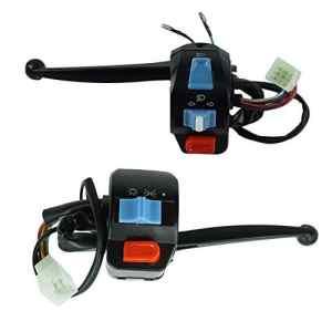 BMD-Store 1 paire 12V moto étanche gauche et droite guidon commutateur de commande klaxon clignotant étoile électrique pour GY6 50cc 125cc 150cc, Haute qualité (Couleur : Levers)