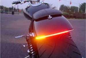 FREESOO Universal LED Bande Lumineuse Moto 12V 48LEDS 48SMD Feux Stop Etanche Arrêt du Signal Lampe pour Harley Davidson