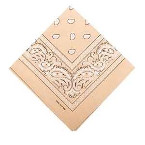 ILOVEDIY Bandana / Foulard Coton Original – Coloris Paisley (beige)