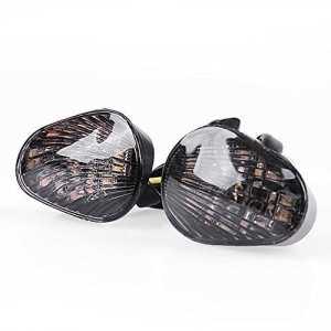 Lot de 2 clignotants LED pour Yamaha YZF R1/R6/R6S de 2006 à 2014 Verre fumé Montage encastré