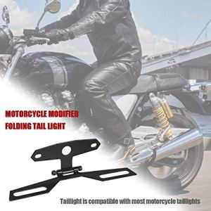 Lucky-all star Support de Montage de Lampe de Plaque d'immatriculation, Moto, feu arrière, VTT