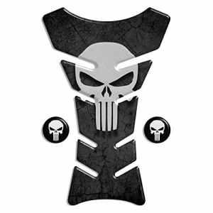 Protection de reservoir Moto MODELS en Gel compatible »The Punisher » réservoir Pad