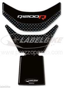 Sticker en Gel 3D Carbone Protection réservoir Compatible pour Moto BMW r1200R