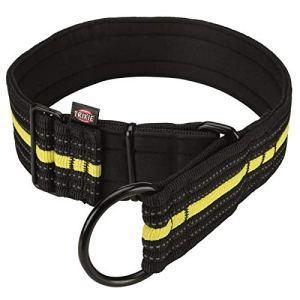 TRIXIE Collier semi-etrangleur Sporting Fusion L?XL – 48?58 cm-50 mm – Noir et jaune – Pour chien