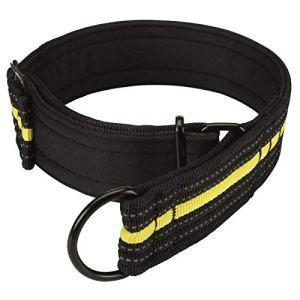 TRIXIE Collier semi-etrangleur Sporting Fusion M?L – 38?48 cm-45 mm – Noir et jaune – Pour chien