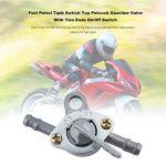 Carburant Essence Réservoir d'essence Robinet d'essence Petcock avec interrupteur marche/arrêt à deux extrémités pour motocycle tout-terrain VTT cyclomoteur