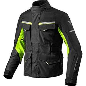 FJT208 – 1450-XL – Rev It Outback 2 Motorcycle Jacket XL Black Neon Yellow