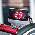 Moto Thermomètre Mini Poche Modifiée Universelle Moto Thermomètre Numérique Jauge De Température De L'eau pour Racing Scooter