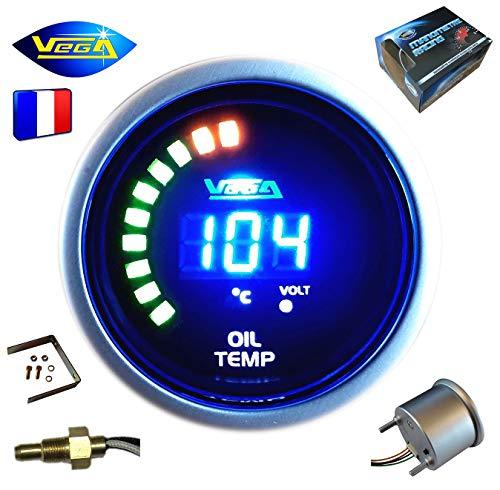 VEGA Manomètre température d'huile 20-150 °C Affichage numérique et LEDs 52 mm Marque Française
