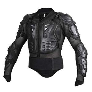 Yuanu Moto Armure Gilet de Protection Pare Pierre Moto Cyclisme Patinage Snowboarding Plastron avec Protection de la Poitrine et Dos Noir L
