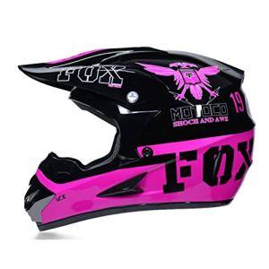 ASDQ Casque de moto hors route Casque de vélo montagneux Casque d'équitation en plein air Casque professionnel de course Équipement de protection (Color : Purple-S)