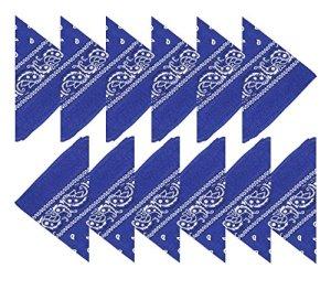 Boolavard Coton, 1er 6 ou 12 Pack Bandanas avec motif Paisley original | Couleur au choix (Bleu Royal)