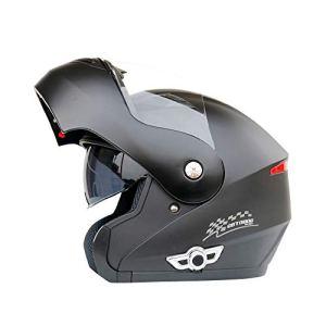 Casque de sécurité Casque Moto Bluetooth pour Casque de Motocross avec Double lentille Casque Bluetooth pour Casque de Moto Bluetooth 3000 mAh – Bleu – Rouge – Grands Accessoires Moto, Casque