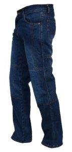 Juicy Trendz de Protection Moto Pantalon Jeans Renforcé avec Protection Aramide Doublure Bleu