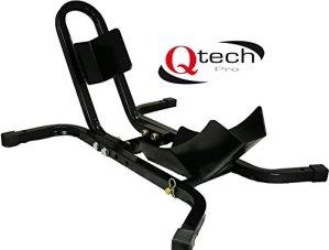 Qtech Rail de vélo de Moto 17–21 Pouces – Roues – Support de Serrage Universel – Coupe résistante avec boulons d'ancrage au Sol