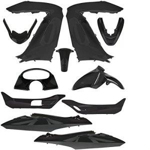 TNTOR Kit Carrosserie Adaptateur Honda PCX 125, Noir, 11 Pièces