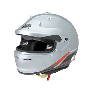 OMP ompsc772fs080 Speed Carbon 8860 Casque, Couleur Light Gris, Taille S