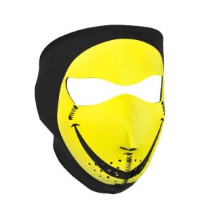Zanheadgear en néoprène Motif Smiley Face Mask (Multicolore, Taille Unique)