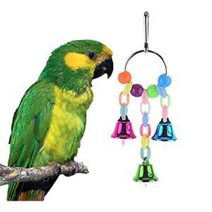 Aeromdale Jouet à mâcher Oiseaux coloré pour Perroquet Perruche Budgie cacatoès Conure inséparables Pinson des Canaries Ara Macaw Crayon Blanc Grays Accessoires Cage Swing
