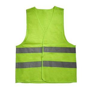 Dailyinshop Avertissement Gilet réfléchissant Vêtements de Travail Gilet de Protection Haute visibilité (Couleur: Jaune (Taille: XXXL)