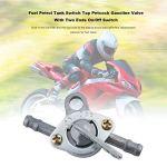 MachinYesell Carburant Essence Réservoir d'essence Robinet d'essence Petcock avec interrupteur marche/arrêt à deux extrémités pour motocycle tout-terrain VTT cyclomoteur