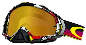 Masque Motocross Oakley Mayhem Pro Legacy Rouge-Fire Iridium (Default , Rouge)