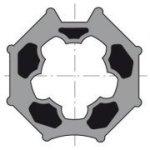 Moteurs pour volets roulants Somfy LT50HiPro 12avec couronne octogonale 60mm et roue octogonale 60 mm, support tête en zamak (voir photo)