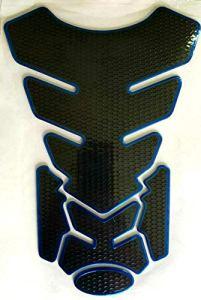Protection de réservoir de moto aspect carbone noir bleu universel Suzuki