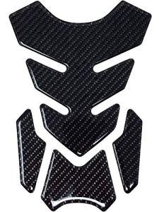 Quattroerre Protection Réservoir Adhésive 3D pour Motos Real Fiber Lustré Full, 18,5 x 13 cm