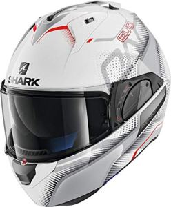 Shark Casque modulable Evo-one 2 Keenser blanc gris rouge WSR Taille M