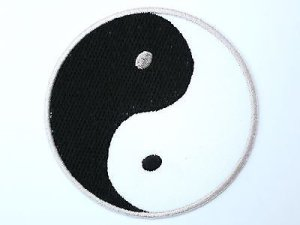 Ying Yang Taoism Iron On Embroidered PatchApprox: 2.8″7.2cm x Approx: 2.8″/7.2cm By SSLINK