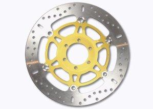 EBC disque de frein (iNOX x-disc aux) avec certification aBE = ø 320 mm/disque de frein en acier inoxydable avec une flottante en aluminium-moyeu