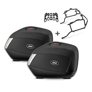 Paire de valises latérales Set Honda CBF 1000 06-09 Givi Monokey V35NT noir 35 litre, kit adapteur inclu