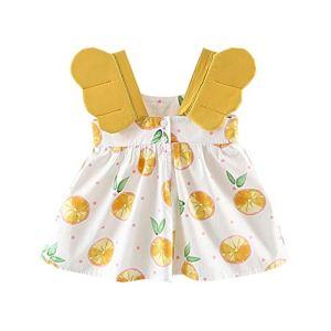 Viewk pour Les Enfants Enfant en Bas âge bébé Filles Fruits Robe de Princesse d'impression de vêtements décontractés