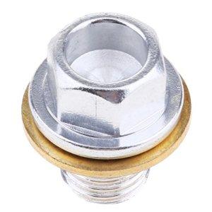 Almencla Bouchon De Vidange D'huile Magnétique pour Yamaha Fz Fj MT 09 YZF-r1 R6 Trx850 Argent