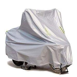 Couverture de moto moto scooter vélo pluie couvre imperméable sunproof protection épaissir respirant s-moto accessoires Pièces de moto (Couleur : Silver, Taille : L)