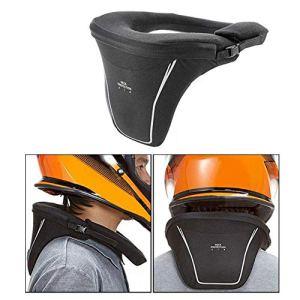 Dedeka Moto Collier Cervical,Cervicale Moto, protège-Nuque pour Moto, Garde de Protection Anti-Fatigue pour Les Courses de Motocross, Gris
