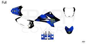 KIT Deco Motocross Yamaha TTR 50 Splash Bleu + 4 MINIS PLAQUES OFFERTES