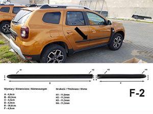 Spangenberg Bandes de Protection latérales pour Dacia Duster II SUV 2 Noir Generation à partir de 10.2017-F2 (370000207)