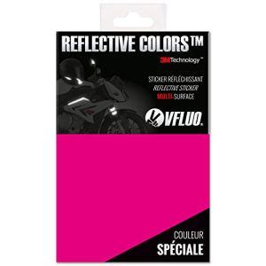VFLUO 3M Reflective ColorsTM, Feuille rétro réfléchissant à découper pour Casque Moto, Scooter, vélo, Multi-Usage, 3M TechnologyTM, 10 x 15 cm, Rose