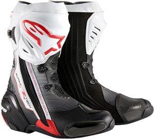 Alpinestars Supertech R Bottes de moto pour homme Noir/rouge/blanc/41