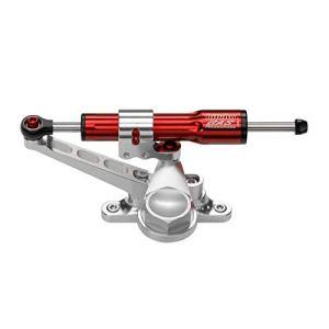 Kit amortisseur de direction BITUBO rouge position latérale cadre-fourche Ducati