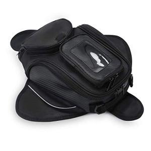 Sacoche de Réservoir Moto Magnétique Oxford Tissu Sac Imperméable Navigation Universelle 4L Noir